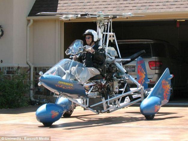 飞行摩托:最高飞行时速超50公里