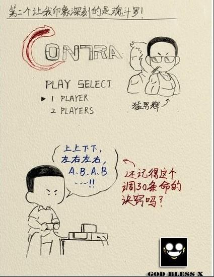 组图:网友手绘80后儿时经典游戏