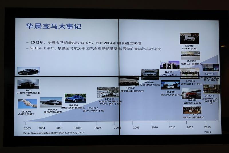 华晨宝马十周年庆典现场图