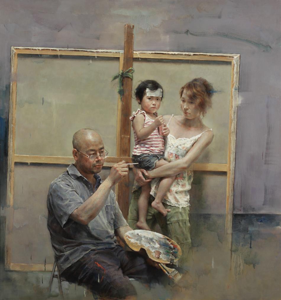 戴平均写实人物油画作品展(组图)
