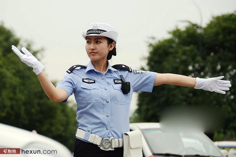 西安美女交警小姜的一天 甜美萌妹子组图 汽